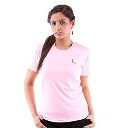 Miauw Women's T Shirt (BCA-202 _Pink_X-Large)