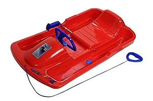 KHW Snow Fox Kunststoffrodel, rot/blau, 95x50x23