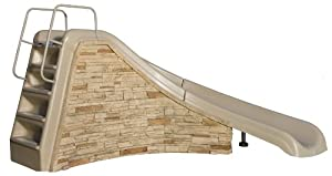Inter-Fab 7920-34 Edgestone Slide Rock Tan Right Hand Turn Slide with Brownstone Rock Panels (Discontinued by Manufacturer)