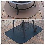 "36"" x 48"" Black Rectangular Grill Mat"