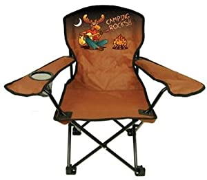 Kids Folding Camp Chair Ages 2-6 Rockin Moose Color Varies from Kids Folding Chair