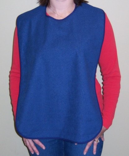 Blue Terry Cloth Adult Size Bib
