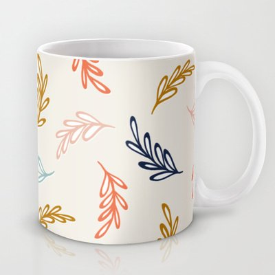 Society6 - Floating Leaves Coffee Mug By Jill Byers