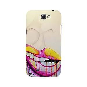 Mobicture Lips Premium Designer Mobile Back Case Cover For Samsung Note 2
