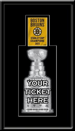 2011 Stanley Cup Champions Banner Raising Single Ticket Frame - Boston Bruins