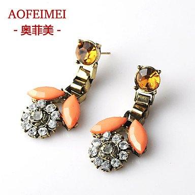 Damen Ohrring Legierung Stud Earrings-Red als Geschenk