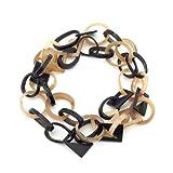 Black Dip Horn Diamond Necklace