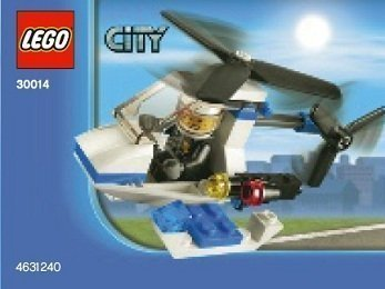 Lego, City Police Helicopter Bagged (30014) - 1