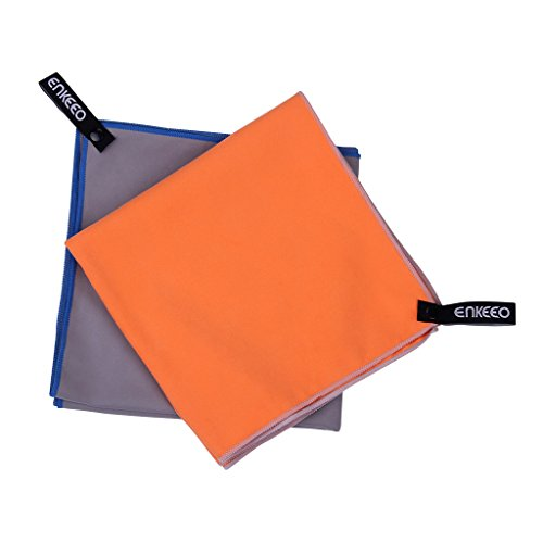 Enkeeo-Microfiber-Travel-Towel-Quick-Dry-Camping-Towel-Ultra-Compact-Sports-Towel-SML-Sizes-with-Hanging-Snap-Loop-Mesh-Bag-for-Camping-Gym-Beach-Swimming-Backpacking-Exercise-Travel-Hiking
