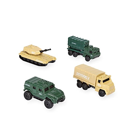 [True Heroes Sentinel 1 Diecast Military Vehicles - 4 Pack] (Ready For Action Military Costume)