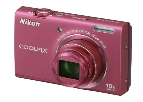 Nikon COOLPIX S6200 Compact Digital Camera - Pink (16MP, 10x Optical Zoom) 2.7 inch LCD