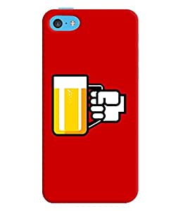 Apple Iphone 5 Red Beer Mug Mobile Cover