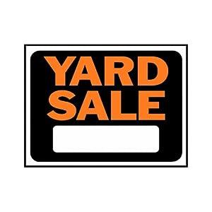 amazon com yard sale sign black white and orange yard signs patio lawn garden
