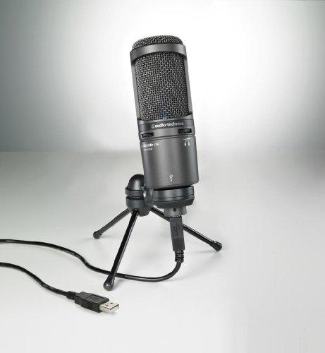 Audio Technica At2020Usb+ Cardioid Condenser Large Diaphragm Usb Studio Microphone