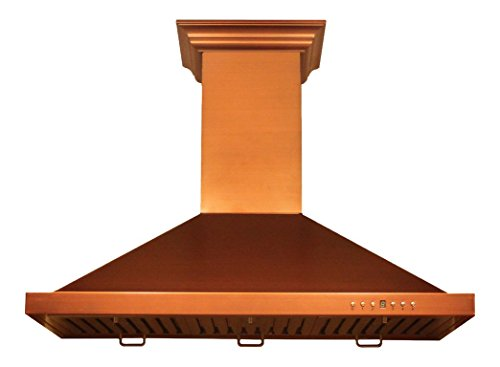 Z Line 8KBC-36 760 CFM Wall Mount Range Hood with Copper Finish, 36