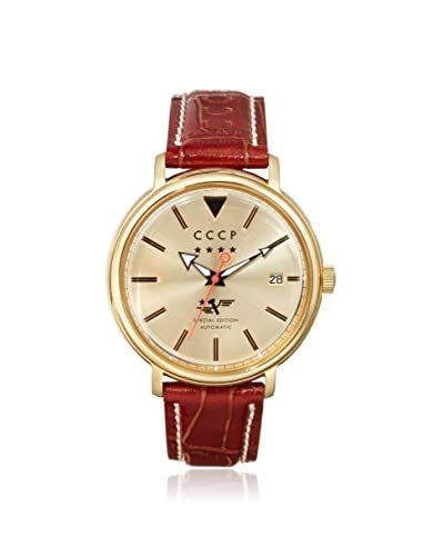 CCCP Men's Heritage Cp-7020-03 Brown/Gold Stainless Steel Watch