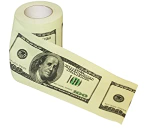 Thumbs Up! 100 Dollar Bill Toilet Roll by Thumbs Up UK