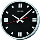 Seiko QXA566T Analogue Wall Clock, Black Dial