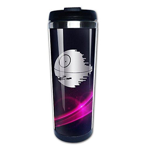 Stainless Steel Death Star Wars Inspired Platinum Style Tumbler Coffee Mug