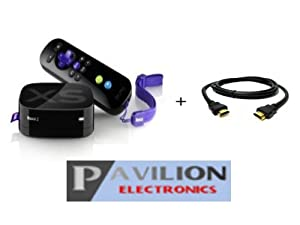 Roku 2 XS 1080p Streaming Player refurbished with Free Digital Pavilion HDMI cable