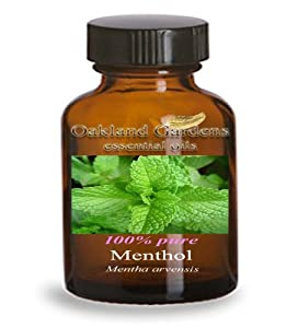 MENTHOL Essential Oil - BULK 100% PURE Therapeutic Grade Essential Oils - used as a flavoring for centuries, SOLID at room temperature (004 mL - 1 Dram Bottle)