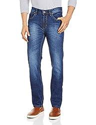 Blumerq Men's Slim Fit Jeans (8907041098947_ISLAND A 1502W_28_05/Dark Wash)