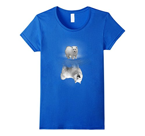 [Women's Eskimo Dogs - American Eskimo Dog T-Shirt !!! Medium Royal Blue] (Eskimo Hat Costume)