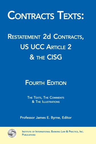 Contracts Texts: Restatement 2d Contracts, UCC Article 2 & the CISG