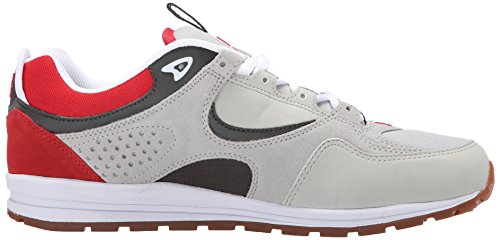 DC Men's Kalis Lite M Skate Shoe, Grey/Red/White, 9.5 M US
