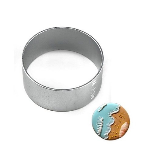 Aluminium Mold Circle Round Shaped Sugarcraft Biscuit Cookie Cake Pastry Baking Cutter Mould Bakeware Decorating Tools