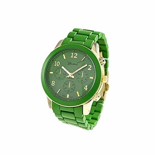 "The ""Boyfriend"" Watch. Large Sized Ceramic Designer Style Fashion Watch With Grey Band Grey Face Silvertrim"