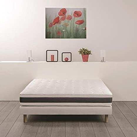 FINLANDEK Matelas 160x200 cm KOOTA - 2 personnes - Mousse et mémoire - Ferme - 30 kg/m3