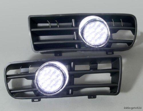 Headlight Bumper Grille Led Fog Light For 99 To 04 Volkswagen Golf Mk4