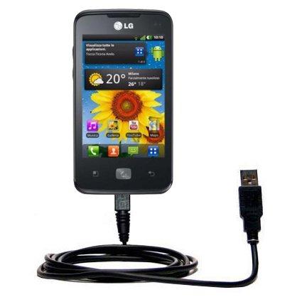 Cavo USB Dritto per Caricamento e Sincronizzazione compatibile con LG Univa con la Tecnologia TipExchange