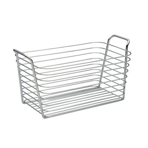 InterDesign Classico Medium Basket, Chrome, 13-3/4 by 7-1/2 by 7-Inch