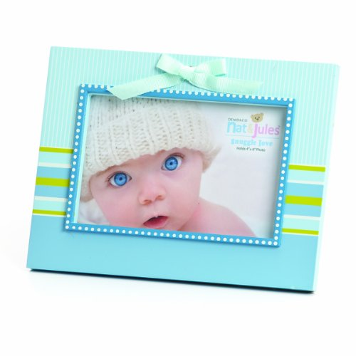 Nat and Jules Striped Frame, Blue
