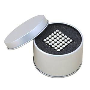 NeoCube - Cube magique composé de 216 billes magnétiques en néodyme - Coffret cadeau en métal
