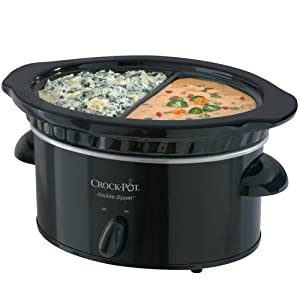 Crock-Pot SCDD 32-Ounce Manual Double Dipper Warmer, Black