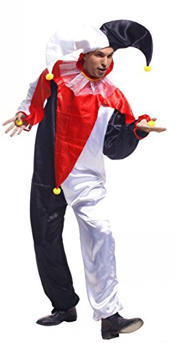 Treasure-box Funny Adult Jester Costume Halloween