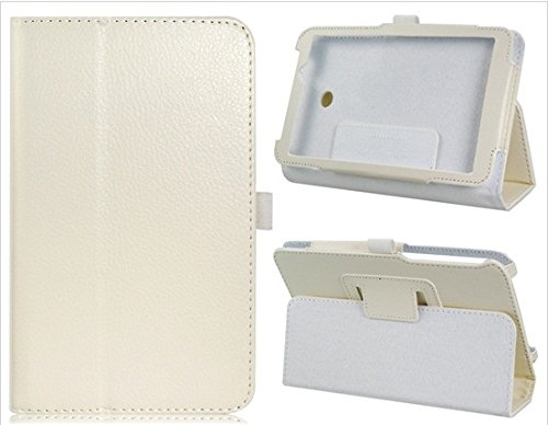 7'' Faux Leather Double Folded Flip Case For Asus Fe170Cg (White)