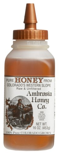 Ambrosia Pure Honey From Colorado's Western Slope, 16-Ounce Bottles (Pack of 4)
