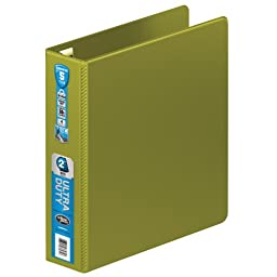 Wilson Jones Ultra Duty D-Ring Binder with Extra Durable Hinge, 2-Inch, Army Green (W876-44-384)