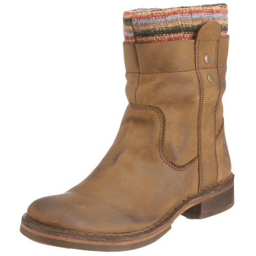 Fly London Women's Oona Mushroom Nubuck Boot P210556000 3 UK