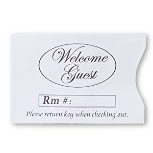 Hotel Room Key Envelopes