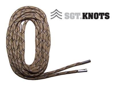 """SGT KNOTS® Paracord Boot Laces - Desert Camo - 54"""""""