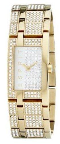 Esprit 4324129 - Reloj de mujer de cuarzo, correa de acero inoxidable color oro