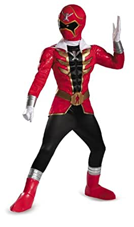 Disguise Saban Super MegaForce Power Rangers Red Ranger Prestige Boys Costume, Small/4 6