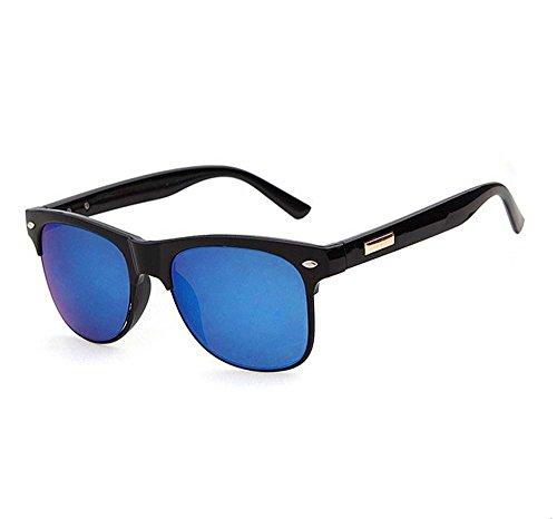 Men drove Ms. fashion sunglasses sunglasses (Black ice blue light)