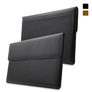 Snugg Surface 1 & 2 Tasche (Schwarz) - Leder Hülle mit lebenslanger Garantie für Microsoft Surface 1 & 2 RT & Pro