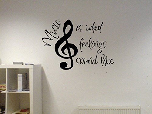 Music Is What Feelings Sound Like Vinyl Wall Decal (Music Lyrics Wall Decals compare prices)